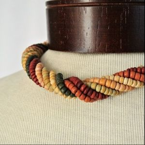 Jewelry - Wood Bead Choker Necklace